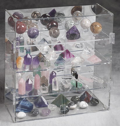 SMALL PICTURES SET OF 20! CRYSTAL SLICES PLASTIC DISPLAY STANDS COLLECTOR